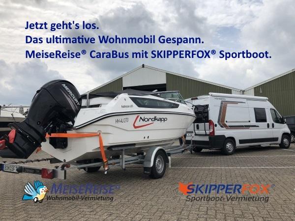 MeiseReise® Wohnmobil mit Sportboot