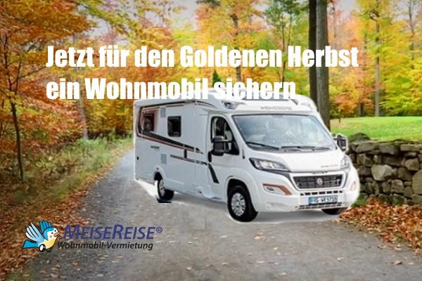 MeiseReise® Wohnmobil mieten Goldener Herbst